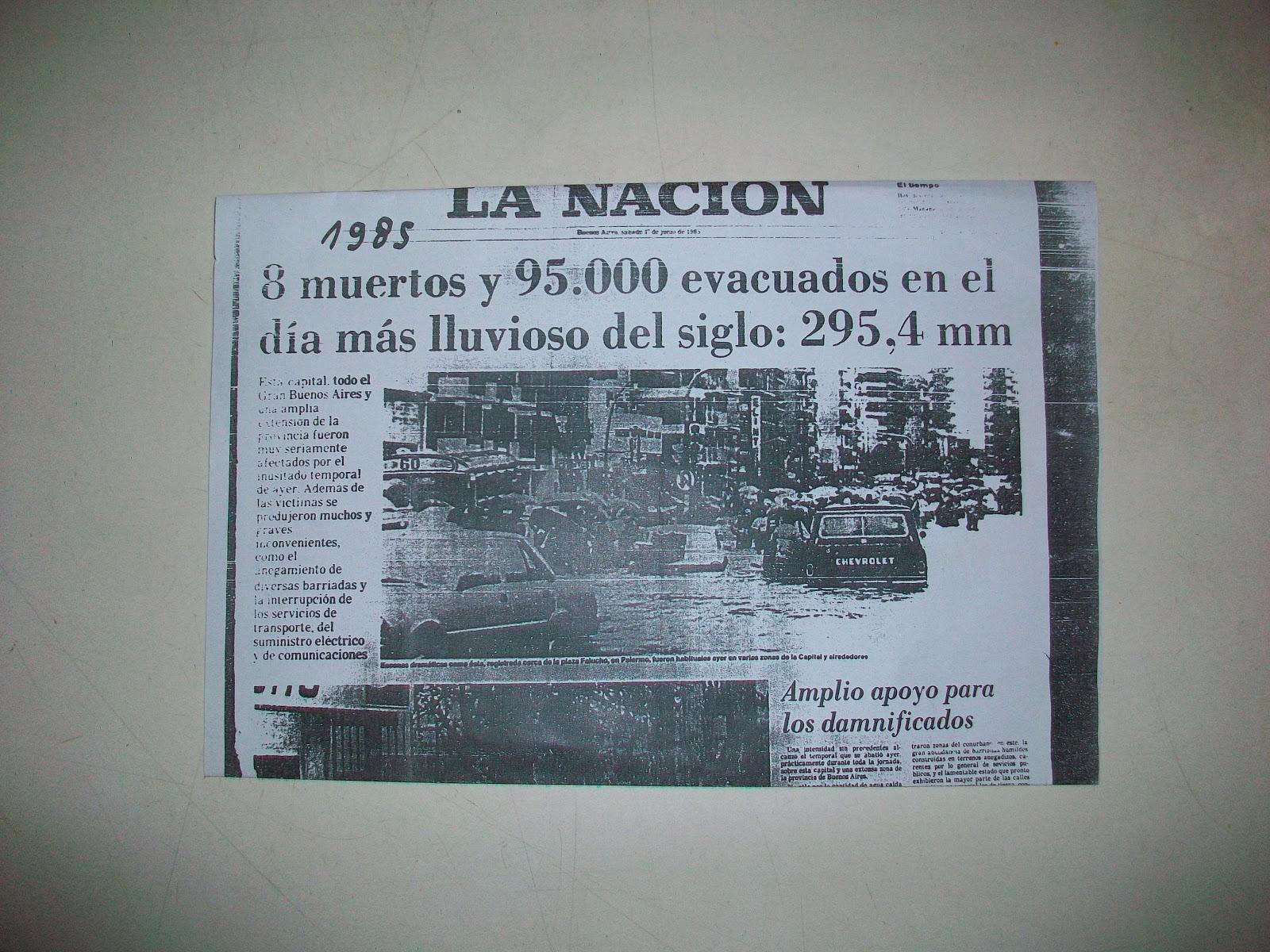 DILUVIO DEL 31 DE MAYO DE 1985